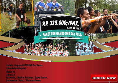 Paket outbound paket fun games one day full